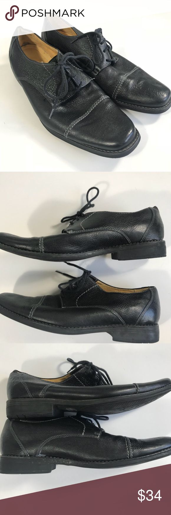 Sandro Moscoloni Size 11.5 D 17305 Black shoes Sandro Moscoloni Size 11.5 D 17305 Black, Pebble Grain Leather, Cap Toe Oxfords  Condition Good preowned shape see photos  Men's size 11.5 D Sandro Moscoloni Shoes Oxfords & Derbys