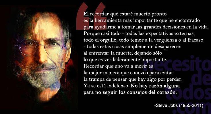 Para Innovar con Inteligencia y Pasión, Frases de Steve Jobs