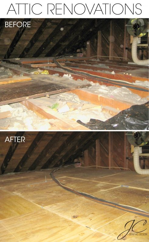 Put a floor down in our attic so we can use it as a storage space!