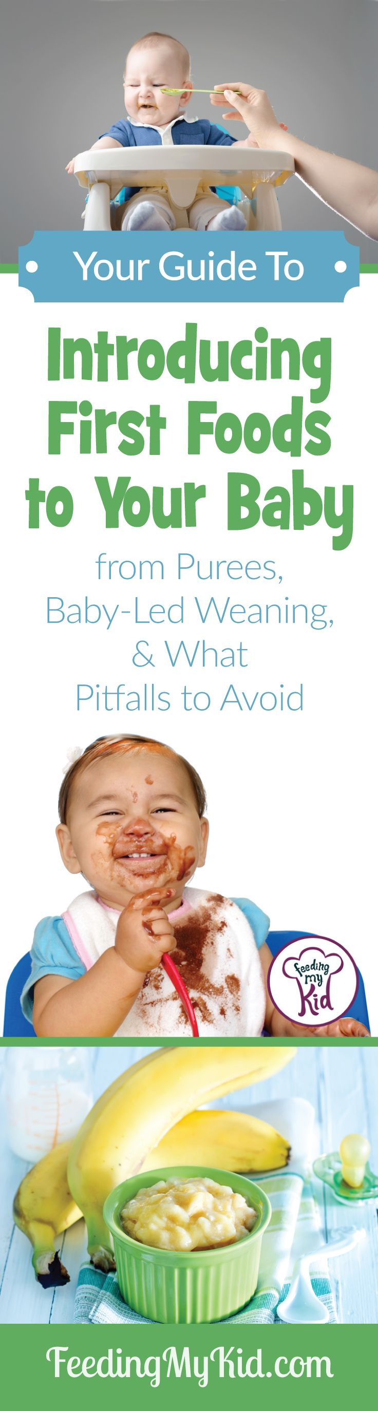 Introducing first foods to baby. Learn About Baby Food Stages