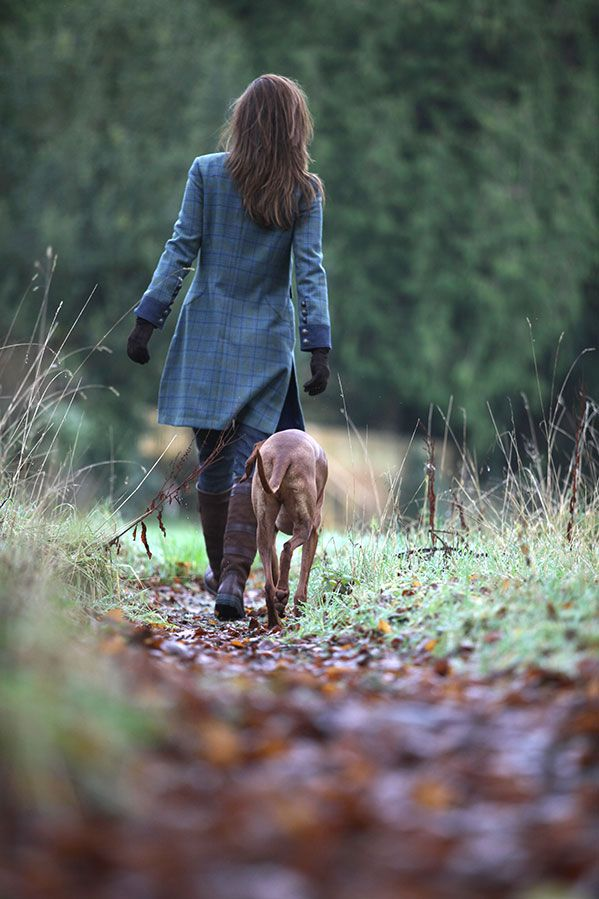 Perfect outfit for a cold country walk. The Dubarry Blackthorn #tweed coat available at dubarry.com