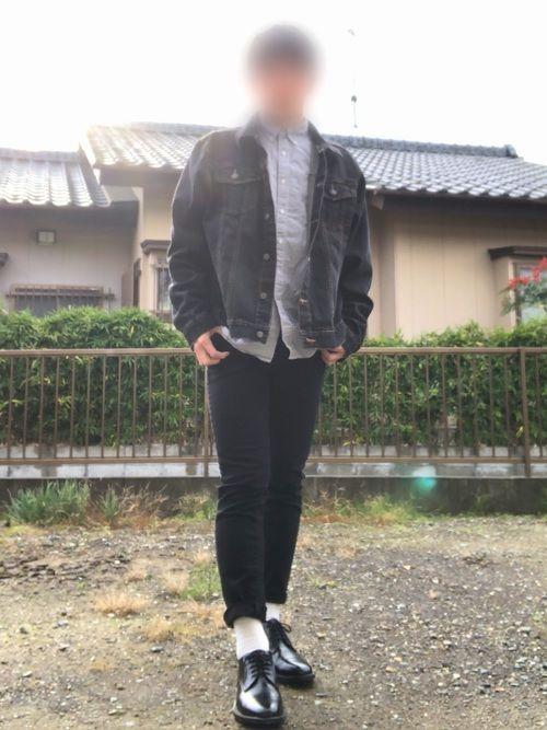 ユニクロ×古着コーデ✨ 古着のデニムジャケットがお気に入りです😍✨