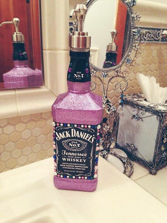 Rescue your liquor bottles by creating them into Lotion or Soap dispensers. Bedazzle them or leave it as is.