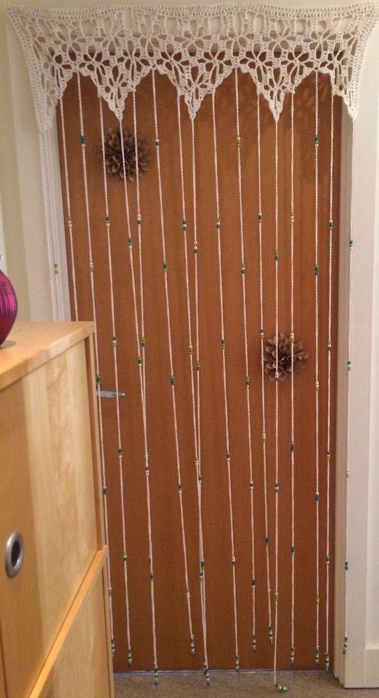 Handmade Crocheted Beaded Curtain