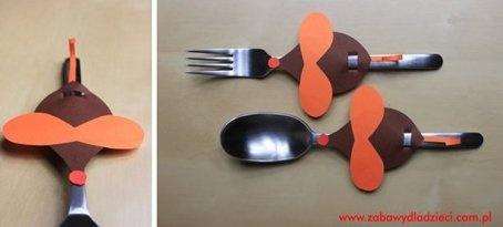 Papierowa myszka jest idealną ozdobą na sztućce, słomki do picia, kredki  :)  #maus