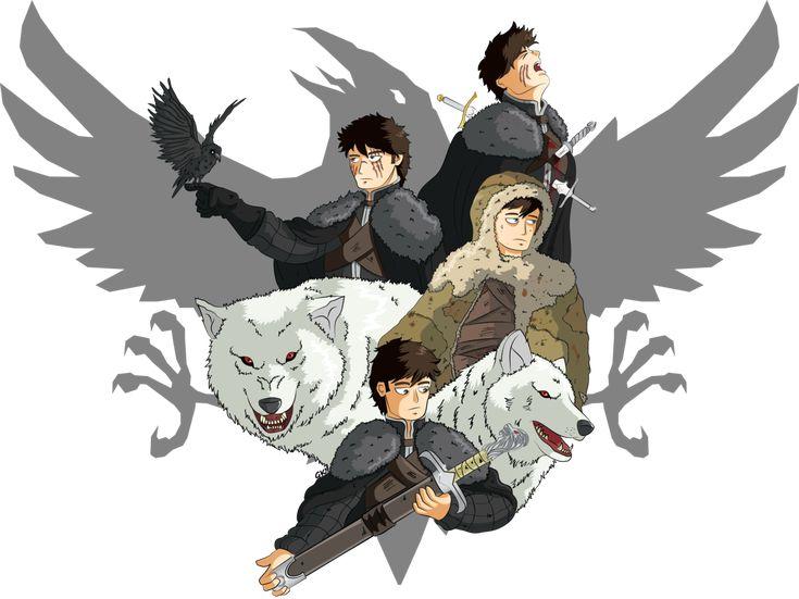 The evolution of Jon Snow.  http://gabkt.deviantart.com/art/ASOIAF-Jon-Snow-462362604?q=gallery%3AGabKT%2F6243512&qo=8