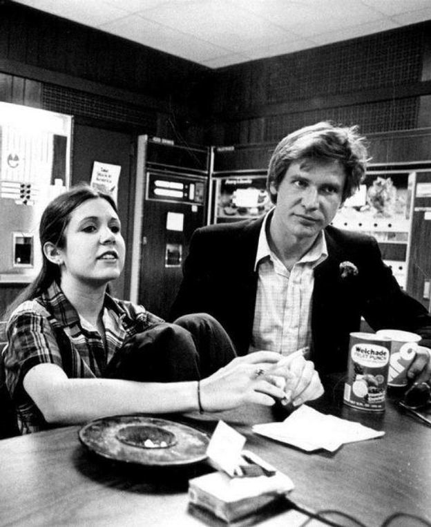 In her new memoir The Princess Diarist Carrie Fisher discusses a three-month long affair she had with Harrison Ford on the set of Star Wars. The year was 1975, She was 19 and he was 34 and married with two children . Harrison drove her home one night...