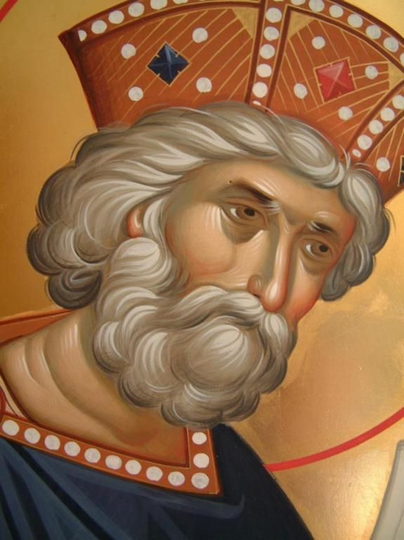 Святой царь и пророк Давид Псалмопевец / The holy and righteous King David