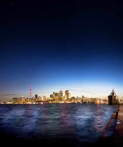 Toronto Skyline Viewed from Centre Island in Lake Ontario