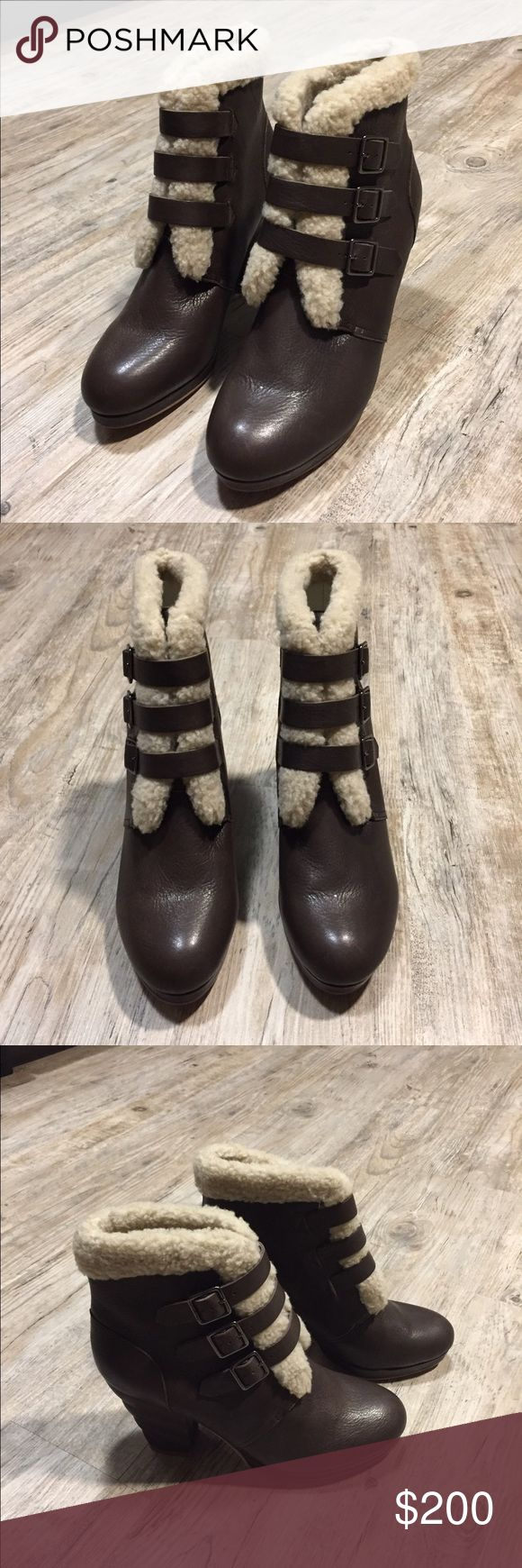 See By Chloe Brown Shearling Ankle Boots Perfect condition. Size 40 (or 9.5). These retail for $399+ See by Chloe Shoes Ankle Boots & Booties