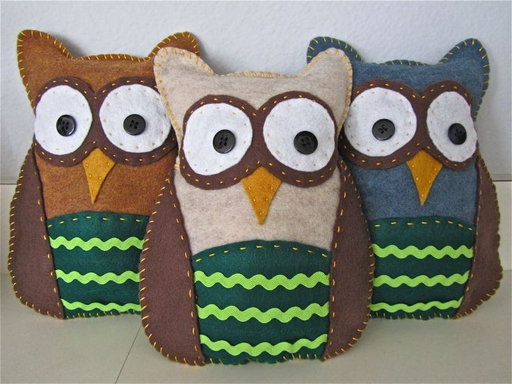 DIY felt animals how to make a felt animal tutorial - owl12