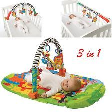 Baby Activity Gym Play Mat 3 In 1 Infant Cot Toy Floor Blanket Fisher Price