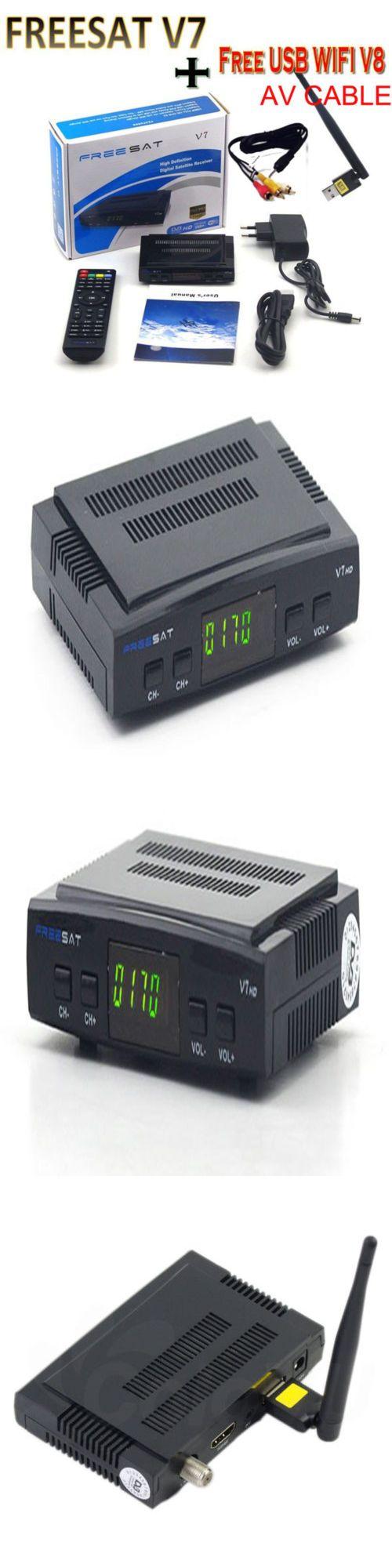 Satellite TV Receivers: Freesat V7 Hd Satellite Receiver Full 1080P+Usb Wifi Dvb-S2 Hd Support Powervu -> BUY IT NOW ONLY: $33.24 on eBay!