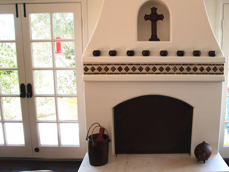 16 best house images on pinterest haciendas adobe for Spanish style fireplace