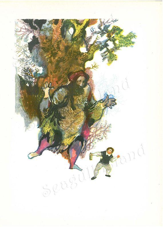 The Spirit in the Bottle 1960s Fairy Tale by Jiri Trnka SeagullIsland on Etsy, $8.00