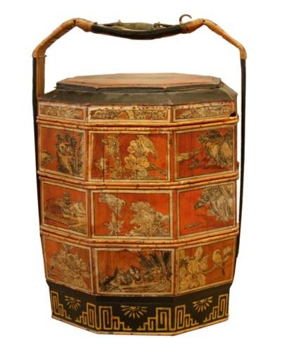 MALINI MURJANI'S PICK - Vintage Chinese Picnic Basket- - $850.