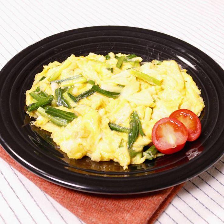 山菜を味わう!行者にんにくの卵焼き | 料理動画(レシピ動画)のkurashiru [クラシル]