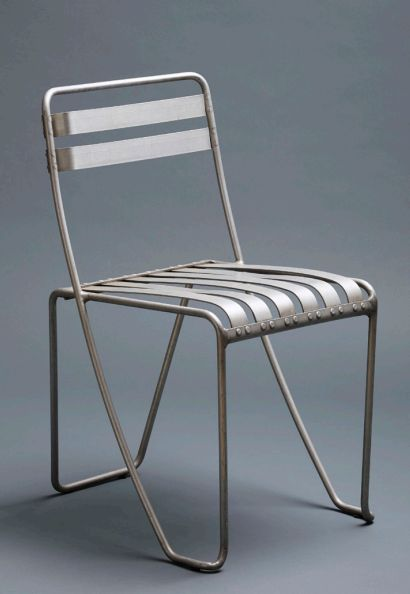 Alfred Roth, Aluminium Stacking Chair, Prototype 1933