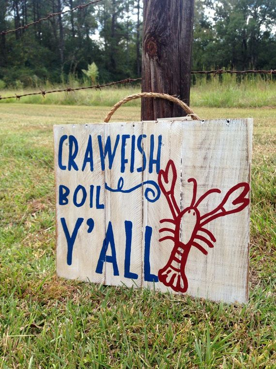 Crawfish boil pallet sign by TURQUOISETOO on Etsy