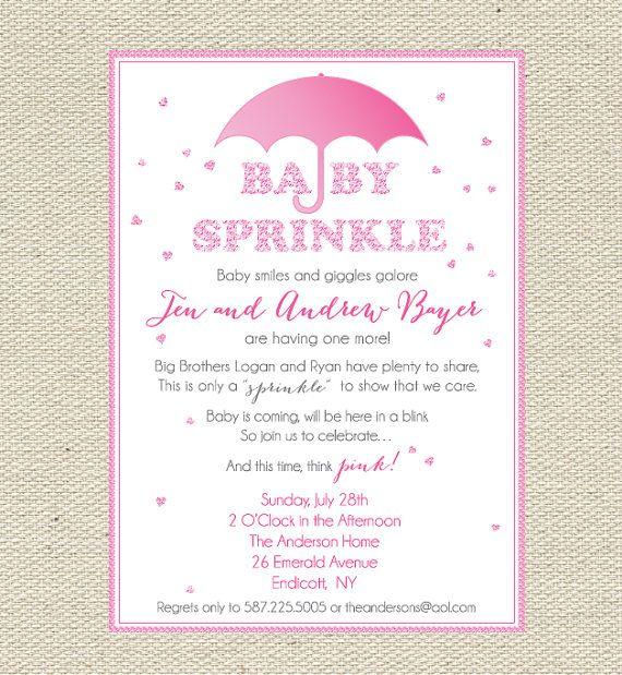 "Baby ""Sprinkles"" Pink Baby Sprinkle / Baby Shower"