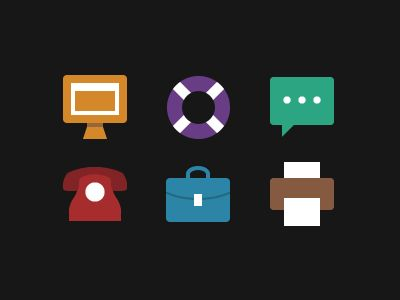 Icons by Chris #flat #design #inspiration