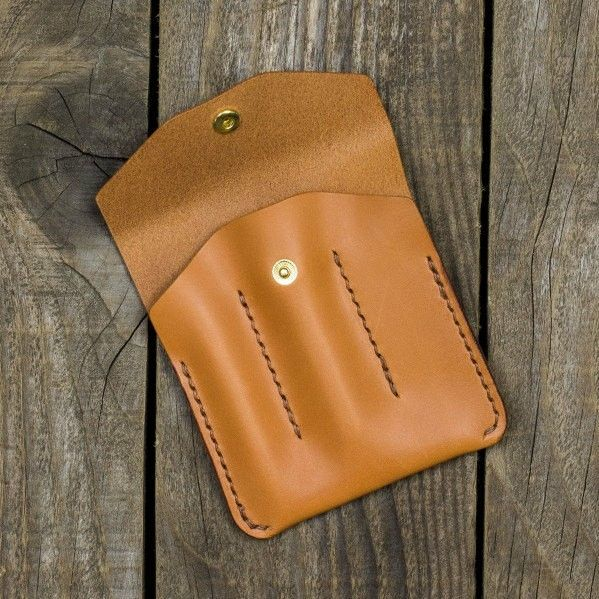 Custom orders welcome! This pouch is for 3 cool pens: Kaweco Sport & Liliput and Fischer Space Pen.