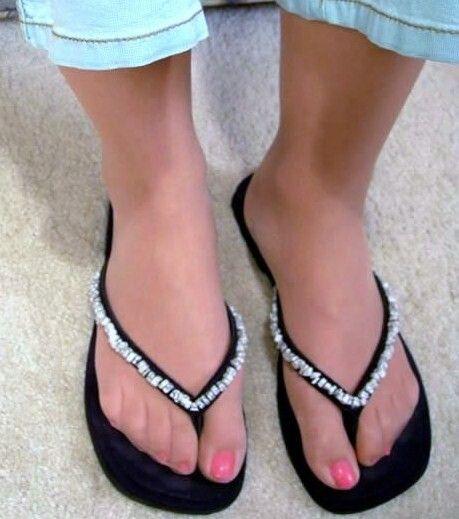 naked girl feet stockings