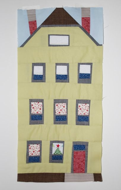 Let's begin sewing...: House Bee Block #houseblock: