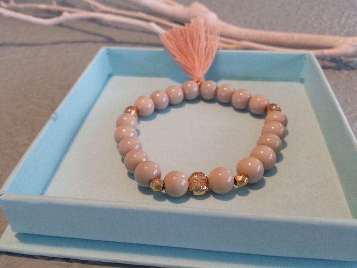 Armbänder - Perlenarmband *BEIGE*, Buddha Armband - ein Designerstück von ZAUBERHAFT-Schmuckwerkstatt bei DaWanda