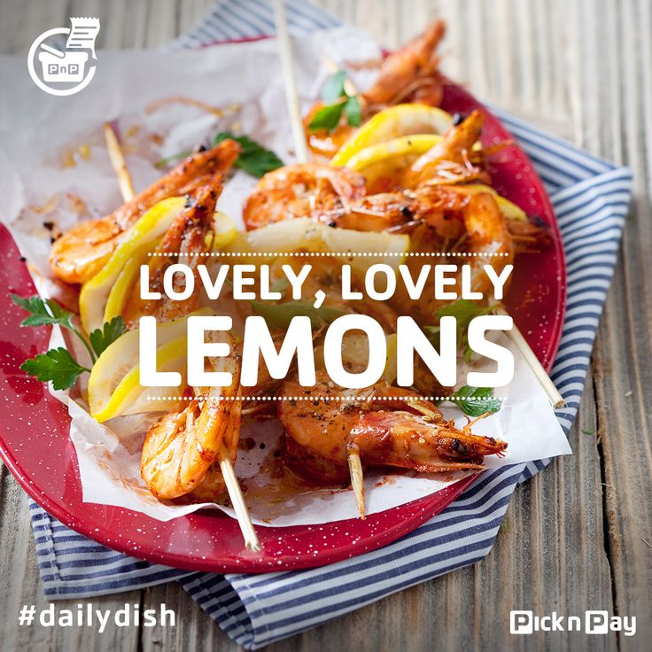 #Dailydish | Treat yourself to these prawn kebabs with lemon and fennel - YUM #picknpay #freshliving