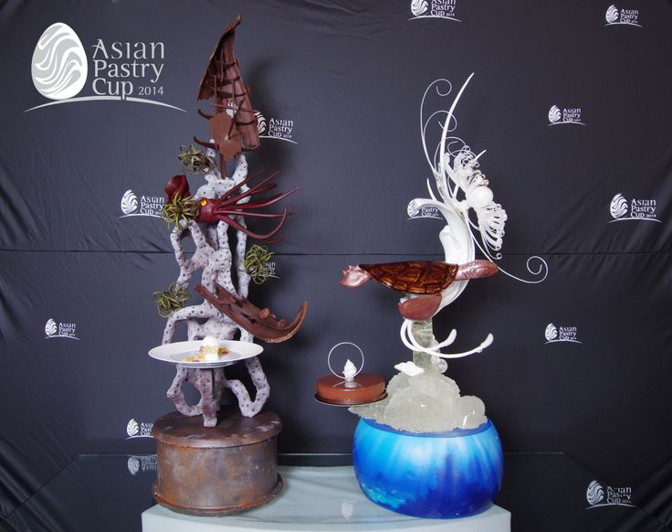 Asian pastry cup