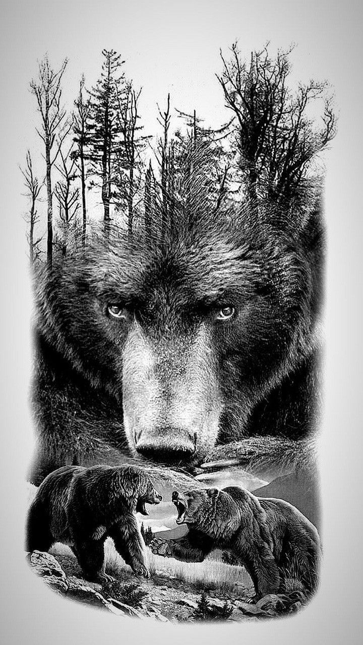 Pin By Stormhart On Tattoos Grizzly Bear Tattoos Bear