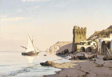 Carl Neumann (1833-1891): Amalfi bay, 1884