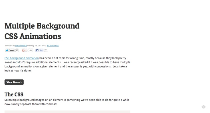Multiple Background CSS Animations