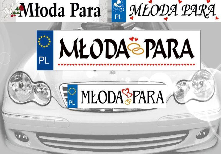 Dekoracje na samochód Młodej Pary