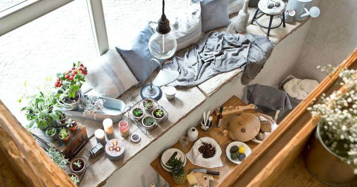 DALANI MAGAZINE e lo stile contemporaneo di Marcel Graf. La sua casa a Berlino è ispirazioni, natura, fai da te. Living e cucina con vista.