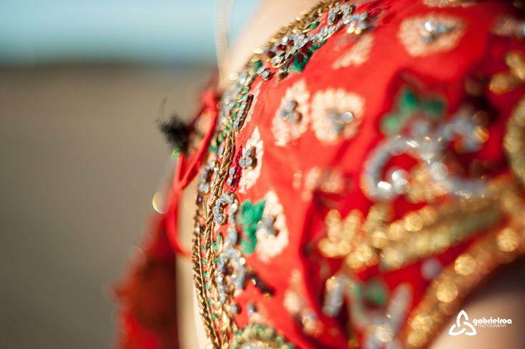 Vestido hindú - Novia hindú - Fotografía de boda hindú -
