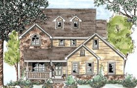 Country House Plan 68872 Elevation