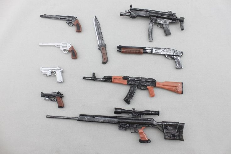 9 Pcs Weapon Guns For 1 6 Scale Hot Toys Neca 12 Resident