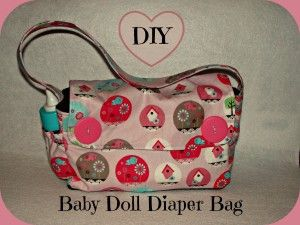 Diy baby doll diaper bag tutorial and pattern from create for 5 inch baby dolls for crafts