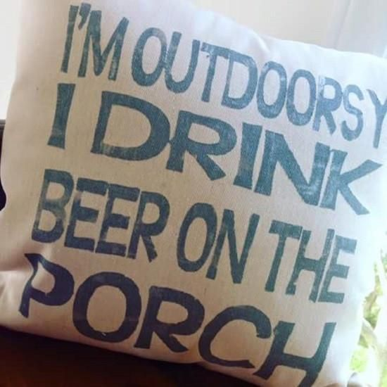Outdoorsy Beer pillow - makes a great Christmas gift!
