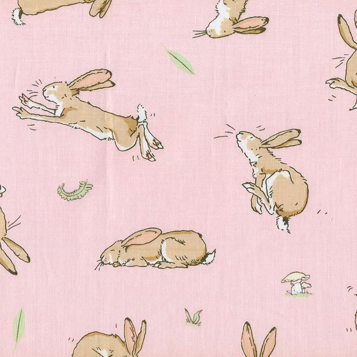 Pink Bunny Scatter from the Guess How Much I Love You fabric online. | Fabric Fusion