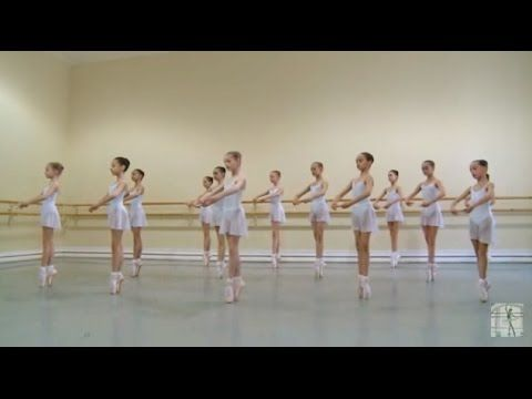 Vaganova Ballet Academy. First exercises on pointe. - YouTube