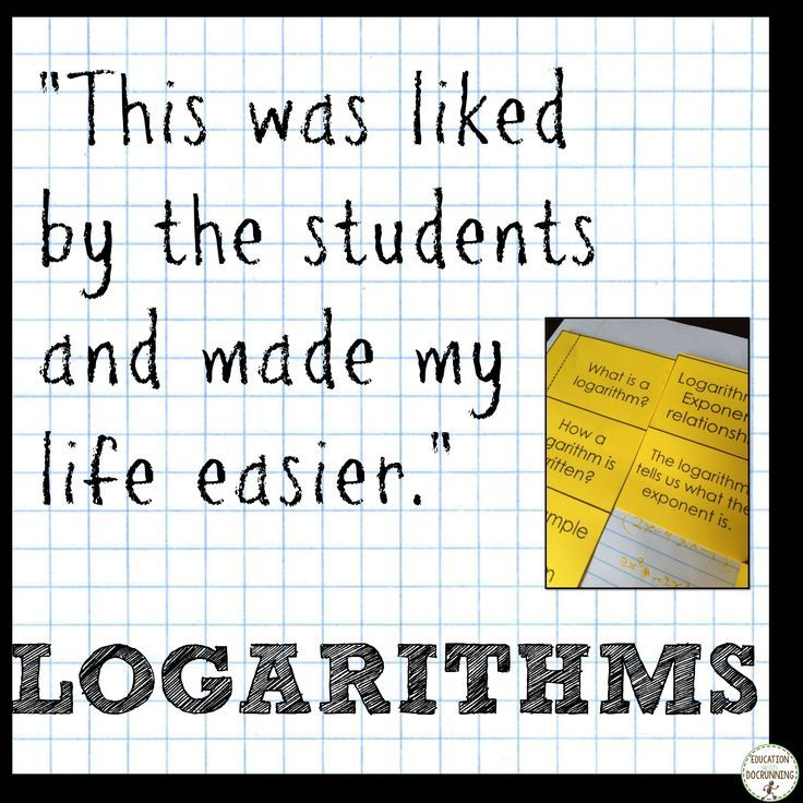 Logarithms Interactive Notebook Color Coded Notes and