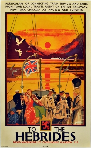 To the Hebrides, 1930s - original vintage poster by Tom Gilfilian listed on…