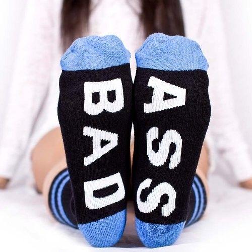 Arthur George by Robert Kardashian BAD ASS Street Wear Socks BLACK / BLUE