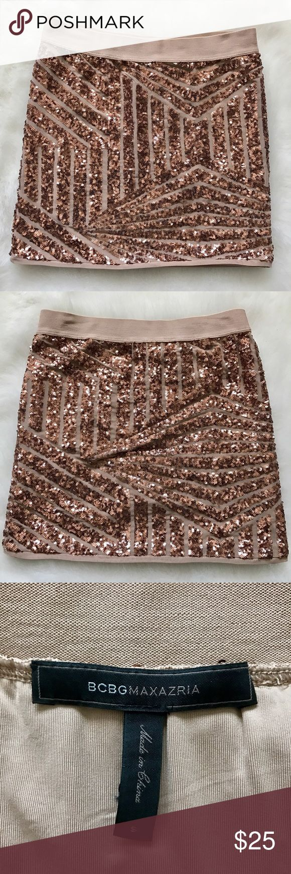 BCBG Maxazria Sequin Skirt Beautiful Sequins form a gorgeous pattern to make up this BCBG mini skirt BCBGMaxAzria Skirts Mini
