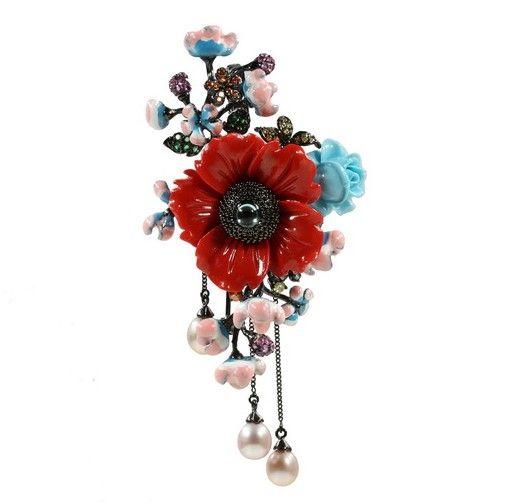 Style-Avenue - Jewellery Garden - Ювелирный сад : Кулон-брошь (PGA004-3)