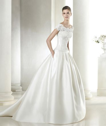 vestido de noiva sanpatrick coleção costura 2015 modelo SAIGUEN #casarcomgosto