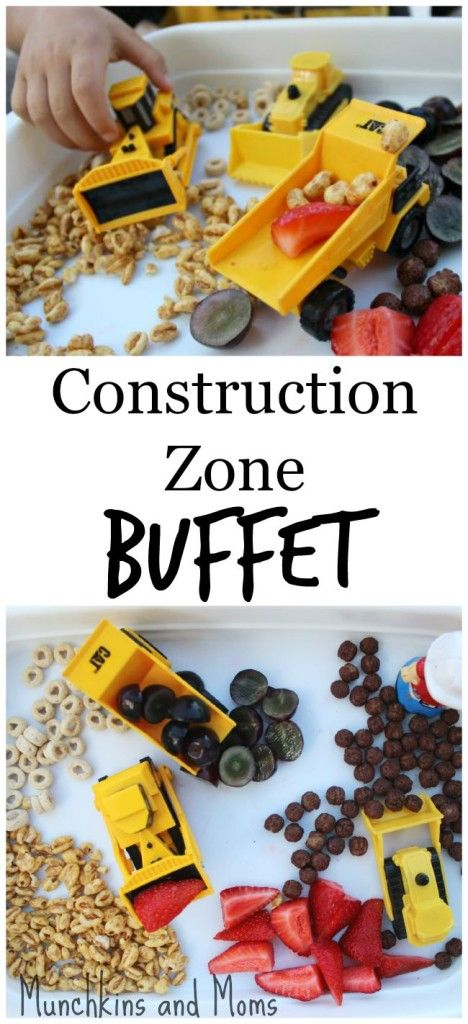 Construction Zone Buffet- a fun breakfast option for kids who love all things tractor!